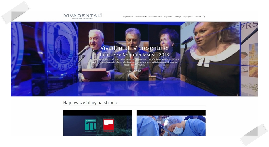 Strona Telewizji Medycznej Vivadental.TV